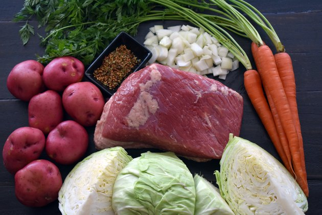 Corned Beef and Cabbage Ingredients