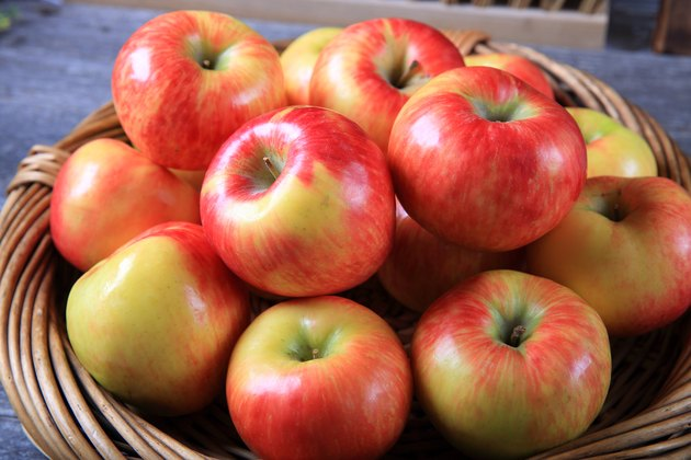 Fresh organic honey crisp apples