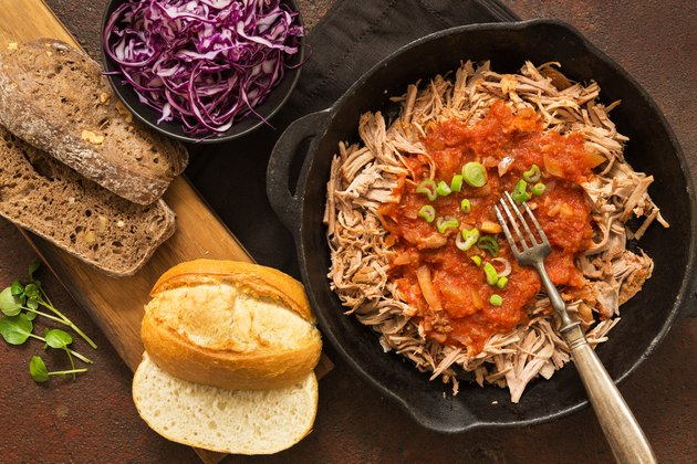 Pulled chicken healthy meat dishes