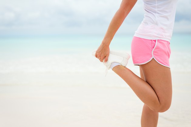Summer running and fitness lifestyle concept background