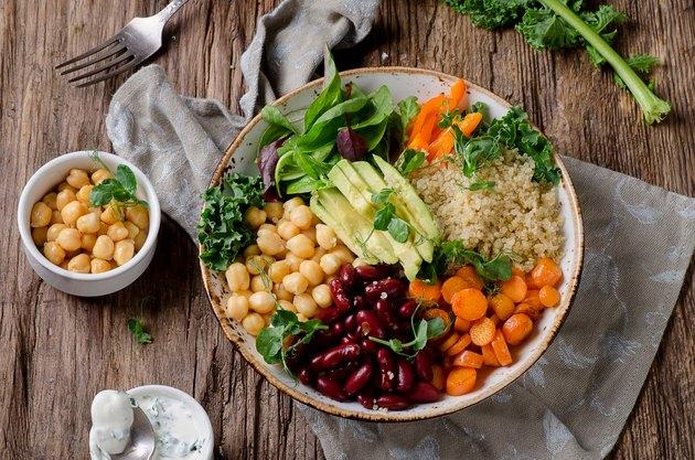 Big salad with vegetables