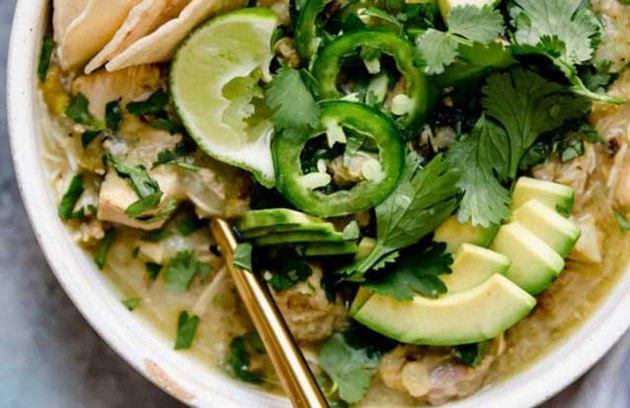 Slow-Cooker Chicken Chile Verde Stew recipe