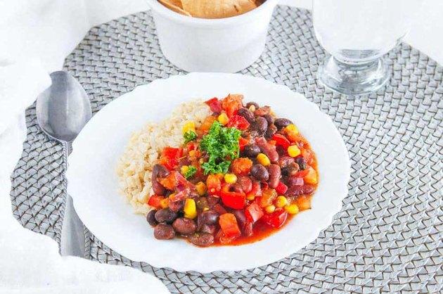 Vegan Bean Stew with Brown Rice recipe