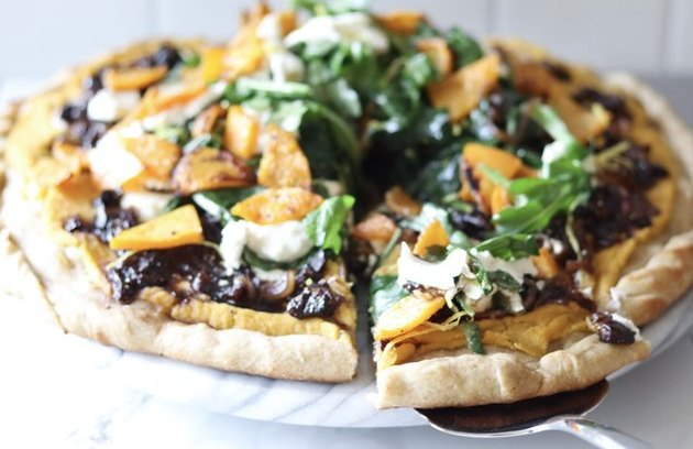 Butternut Squash, Balsamic, Fig and Goat Cheese Pizza