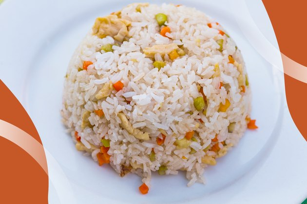 Turkey Fried Rice Recipe on a white plate