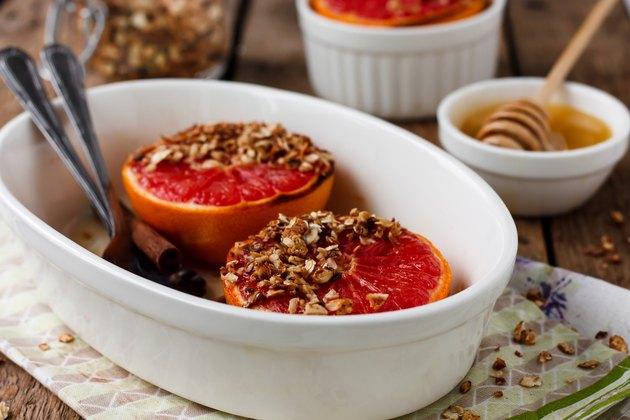 Granola and Red Grapefruit Brûlée