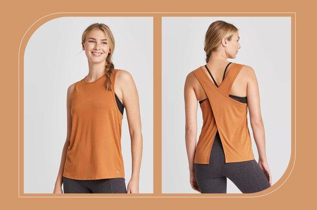 JoyLab Women's Tie-Back Active Tank Top for psoriasis