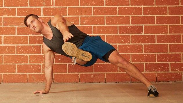 17. Inside-Leg Kick Push-Up