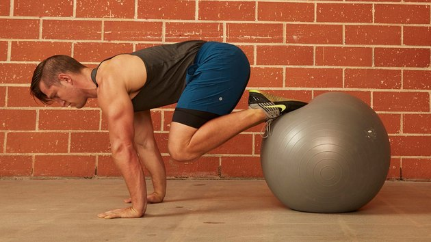 21. Stability Ball Push-Up With Pull-In