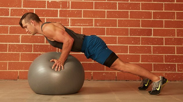 12. Stability Ball Push-Up