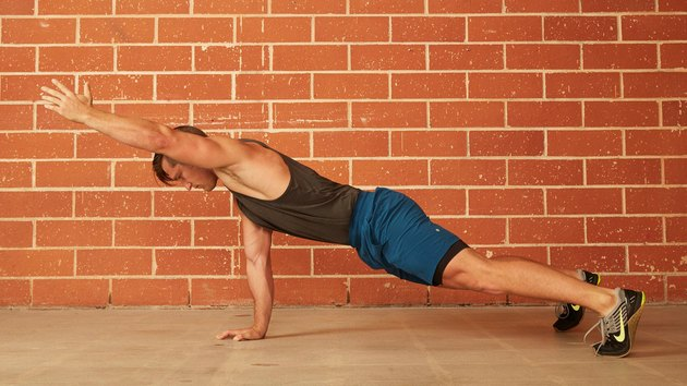 13. Single-Arm Raise Push-Up