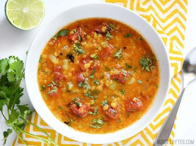 Mexican Red Lentil Stew
