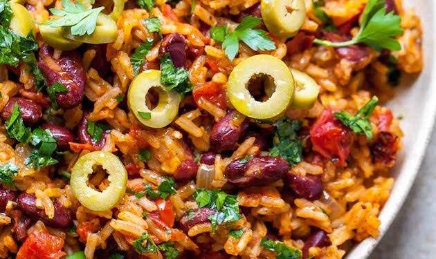 Dish of Spanish rice