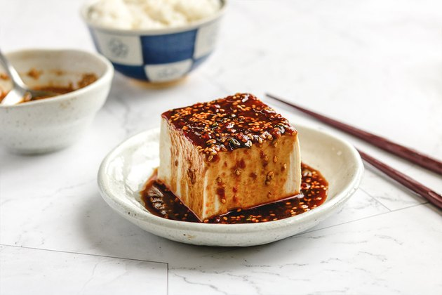 Cold Tofu With Spicy Chili Sauce