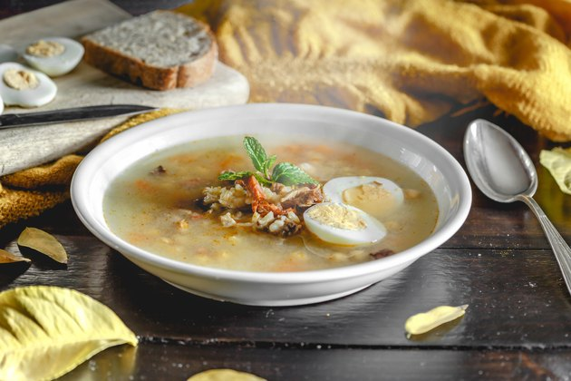 Healthy and warming winter soup for weight loss