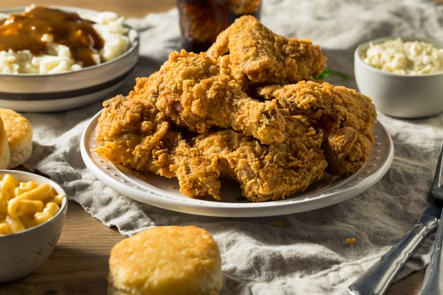 Homemade Southern Fried Chicken Dinner