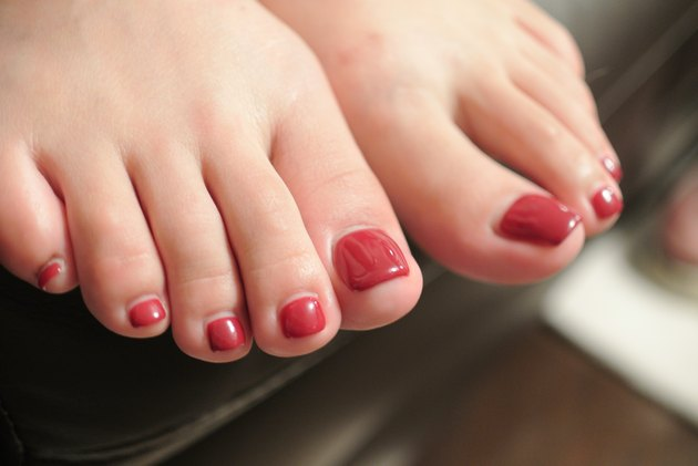 Close view of toenails that smell