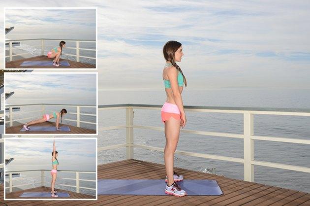 Woman Demonstrating Sumo Squat Jumps