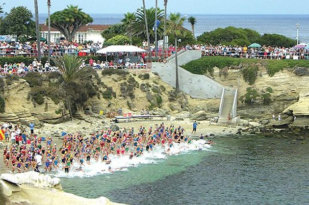 Swimmers get ready for La Jolla Rough Water Swim