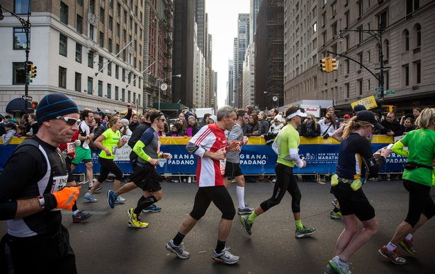 People running the New York City Marathon