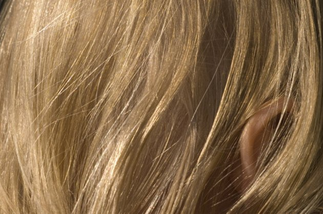 Hydrogen peroxide can bleach hair.