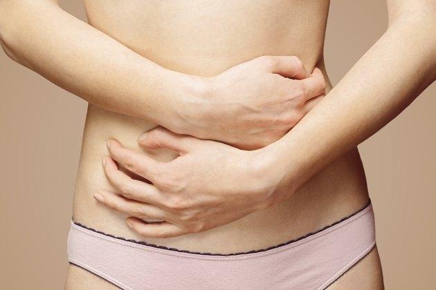 Pain in the female abdomen