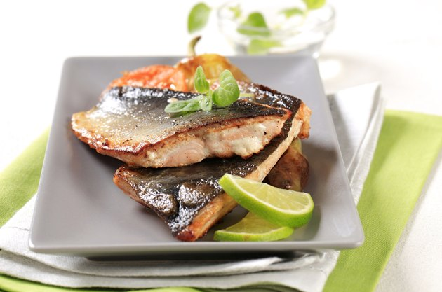 Pan fried trout fillets