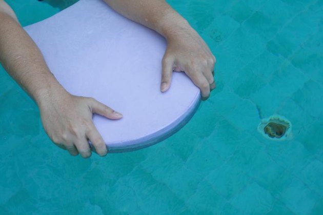Swimming floating board on a water