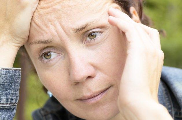 Close-up of woman thinking