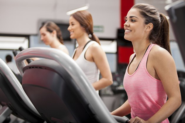 Group of women on a treadmill
