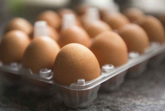 Eggs in a plastic holder / box