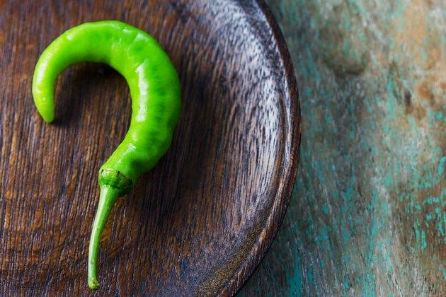 Fresh green goat pepper