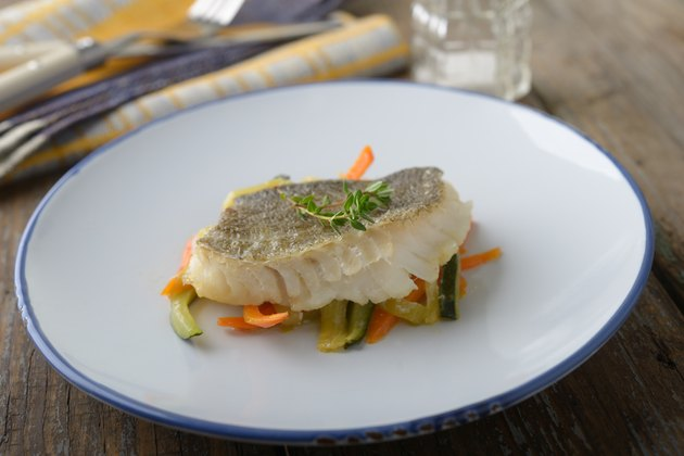 Baked cod with vegetables