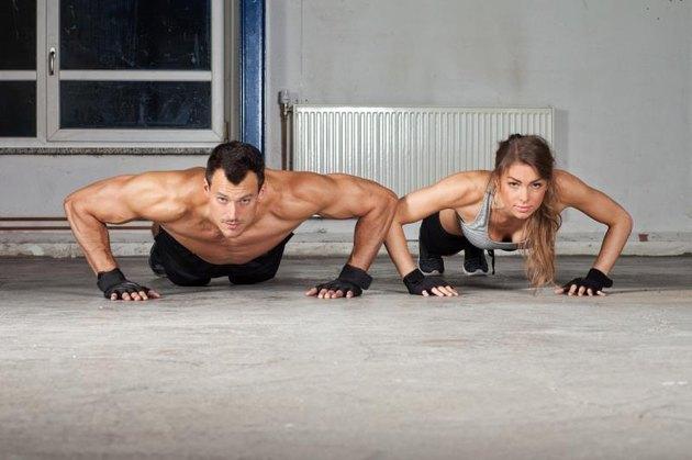 gym push up exercise