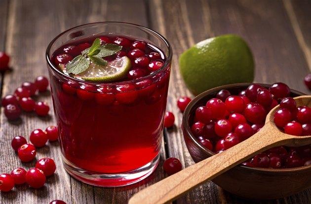 Fresh cranberry drink