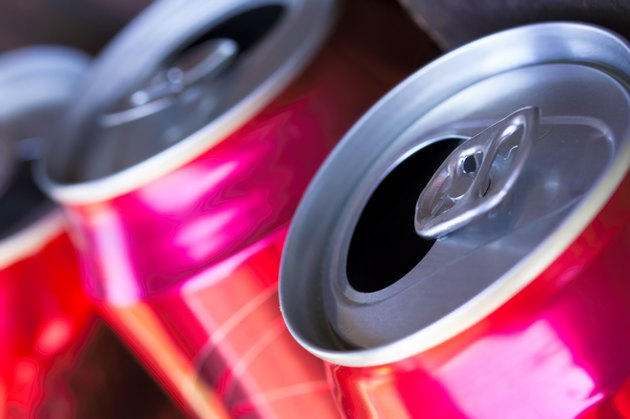 open beer cans