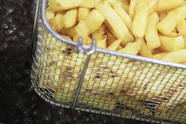 french fries in deep fat fryer