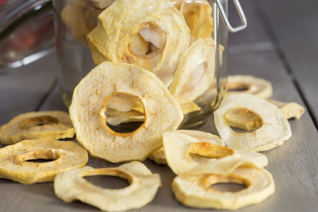 dried Apple Rings in a Jar