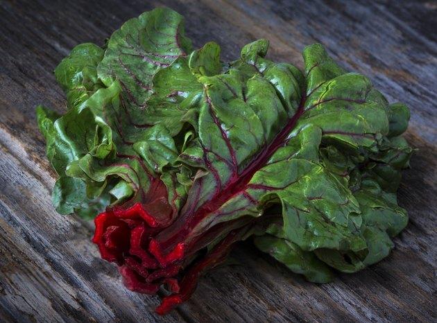 Raw Organic Red Ruby Swiss Chard