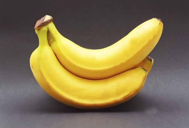 banana black background