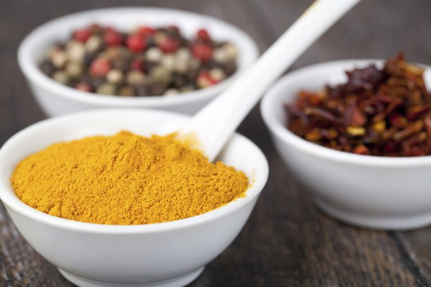 Spices Curry, Peppers Mix and paprika