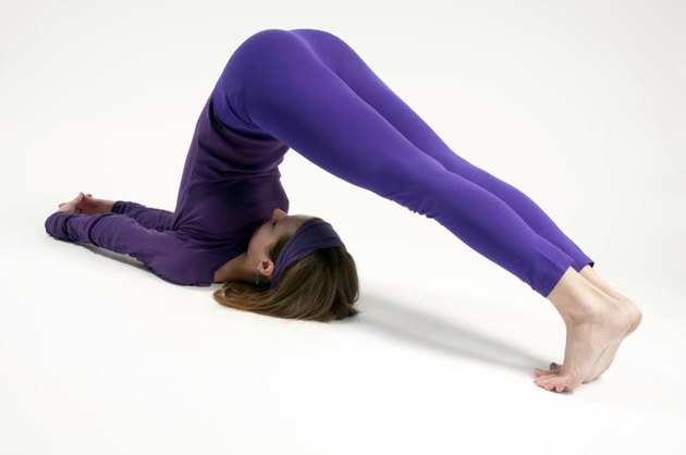Halasana or the Plow Pose in yoga