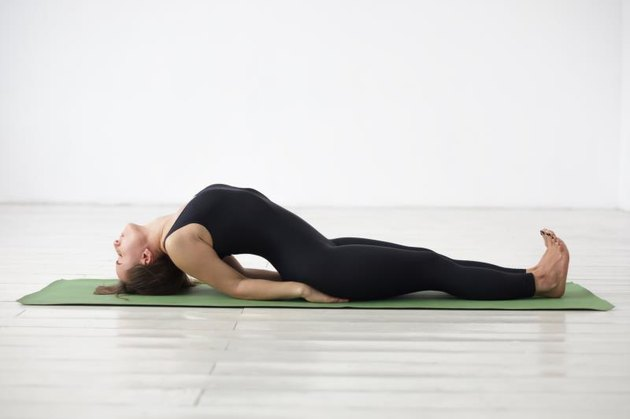 yoga asana Matyasana - fish pose.
