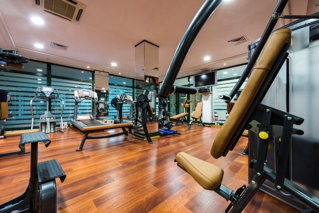 Modern gym interior with equipment