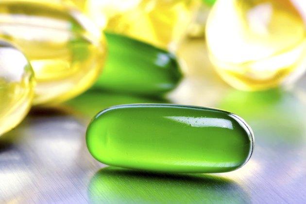 Green gel capsule