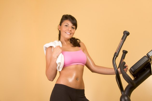 Attractive young woman doing cardio workout