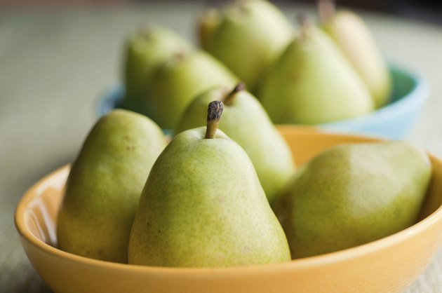 Pears in Bowls