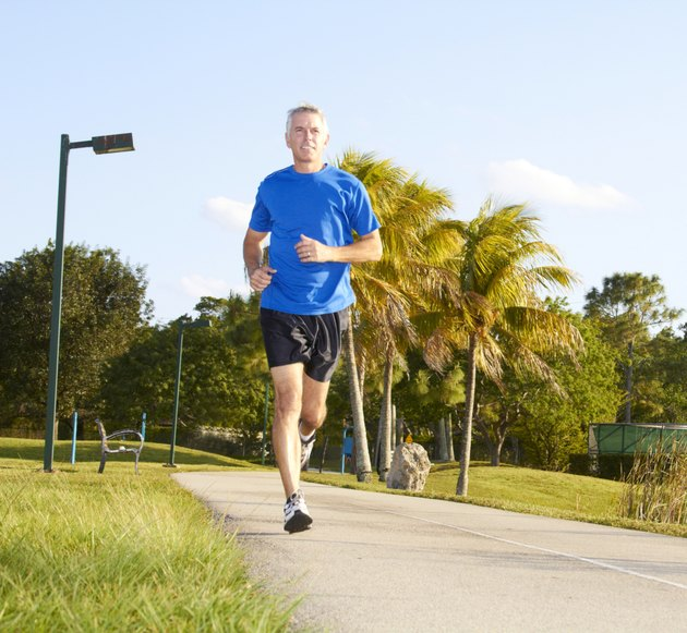 Mature Man Jogging