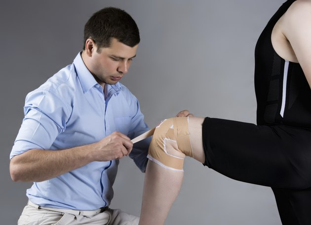 Adult male physiotherapist