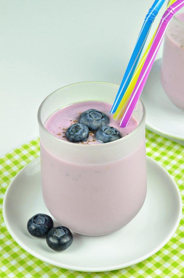 Milkshake Yoghurt Blueberry, Macro